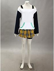 cheap -Inspired by Rosario and Vampire Mizore Shirayuki Anime Cosplay Costumes Japanese Cosplay Suits Patchwork Skirt / Belt / T-shirt For Women's / Ribbon / Ribbon