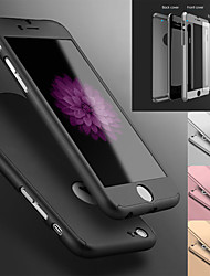 cheap -Case For Apple iPhone 7 / iPhone 6 / iPhone 6s Ultra-thin Full Body Cases Solid Colored Hard PC for iPhone 7 / iPhone 6s / iPhone 6