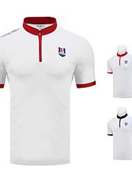 cheap -Men's Tee / T-shirt Short Sleeve Golf Running Athleisure Outdoor Autumn / Fall Spring Summer / Cotton / High Elasticity / Breathable