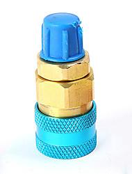 Недорогие -1 пара фреон r134a авто кондиционер воздуха хладагент латунь быстросменный разъем адаптеры фторирования инструмент