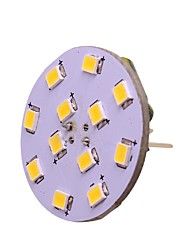 cheap -1pc 2W G4 LED Back Pin Bi-pin Base Lights 12-24V AC/DC 250LM 12 LED Beads SMD 2835 White Warm White for RV Marine Ceiling Lights