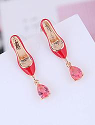 cheap -Women's Cubic Zirconia Drop Earrings Earrings High Heel Simple Korean Sweet Fashion Earrings Jewelry Gold For Daily Street Holiday Club 1 Pair