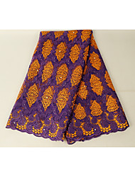 cheap -African lace Florals Pattern 130 cm width fabric for Special occasions sold by the 5Yard
