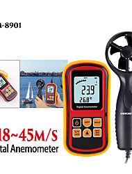 cheap -High quality Anemometer Wind Speed GaugeTemperature Measure Digital 45 m/s thermometer Handheld Measuring tool GM8901