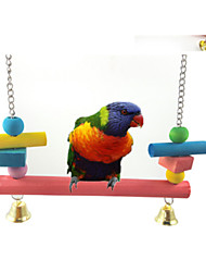 cheap -FUN OF PETS® Long Colorful Hanging Bridge with bells Cage Hanging for Birds (Random Colour)