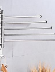 cheap -Bathroom Towel Rack Rotating Activity Towel Bar Stainless Steel Brushed Bathroom Storage Towel Rack