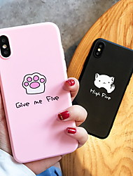 cheap -Case For Apple iPhone XS / iPhone XR / iPhone XS Max Pattern Back Cover Word / Phrase / Cartoon Soft Silicone
