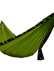 cheap -Camping Hammock Outdoor Wearable Folding Cotton Fabric Nylon Fiber for 1 - 2 person Camping Green 320*200 cm