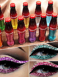 abordables -marque cmaadu coloré flash brillant paillettes poudre eyeliner imperméable paillettes fard à paupières liquide pour les yeux cosmétiques
