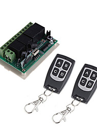 cheap -DC12V 4CH wireless remote control switch /Learning code 4ch relay receiver /power ON/OFF  waterproof remote /Momentary /Toggle/Latched can change /433mhz