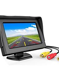 Недорогие -Muzili 4,3-дюймовый TFT ЖК-монитор автомобиля заднего вида полноцветный дисплей 2-канальный видеовходы визуальный задний ход
