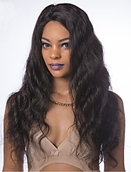 cheap -Human Hair Lace Front Wig Free Part style Brazilian Hair Body Wave Black Wig 130% Density Women Women's Long Others Clytie
