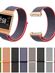 cheap -Fitbit Ionic Bands Breathable Comfortable Adjustable Closure Wrist Replacement Nylon Velcro WristBands for Fitbit Ionic