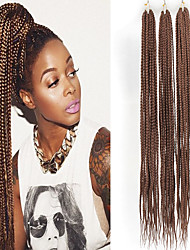cheap -Twist Braids Crochet Hair Braids Synthetic Extentions Straight Box Braids Natural Color Synthetic Hair 30 inch Braiding Hair 3 Pack Ombre Hair