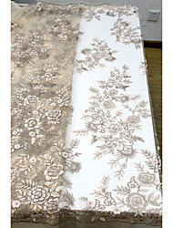 cheap -African lace Florals Pattern 125 cm width fabric for Bridal sold by the 5Yard