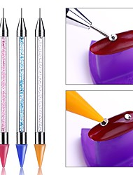 cheap -Crayon Wax Dotting Pen Pencil Self-adhesive Rhinestones Gems Drilling Picking Picker Tips Tools DIY Salon Nail Art