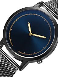 cheap -Men's Dress Watch Quartz Stainless Steel Black / Silver / Gold Casual Watch Analog Fashion Minimalist - Golden Black / Blue Rose Gold One Year Battery Life