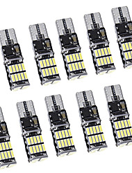 cheap -10pcs Canbus W5W T10 LED 4014 26SMD 168 T10 LED Bulbs For Car Parking Position LightsInterior Dome Lights12V White