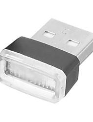 cheap -1pcs Universal Mini USB LED Wireless Car Interior Lighting Atmosphere Light Foot Lamp