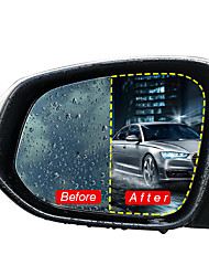 cheap -2Pcs Car Rear View Mirror Protective Film Nano Coating Rainproof Anti Fog 175x200mm