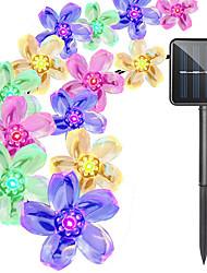Недорогие -6м Гирлянды 50 светодиоды 1 монтажный кронштейн Тёплый белый / Белый / Фиолетовый Работает от солнечной энергии / Творчество / Для вечеринок 2 V 1 комплект
