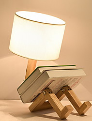 cheap -Table Lamp New Design Modern Contemporary For Bedroom / Study Room / Office Wood / Bamboo 220V