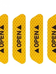 cheap -4Pcs/Set Safety Reflective Tape Open Sign Warning Mark Car Door Stickers Accessory