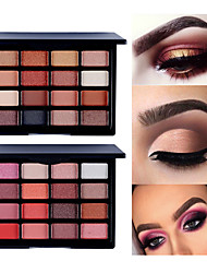 Недорогие -марка popfeel 16 цветов жемчужно-матовые тени для век земного цвета долговечные легко подкрашивающие макияж для глаз ленивый поднос для век