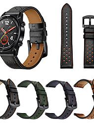 abordables -Bracelet de Montre  pour Huawei Watch GT / Watch 2 Pro Huawei Bracelet Sport Vrai Cuir Sangle de Poignet