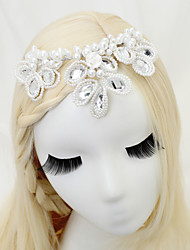 cheap -Other Material / Imitation Pearl / Alloy Headdress with Imitation Pearl 1 Piece Wedding Headpiece