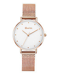 cheap -Oulm Women's Quartz Watches Japanese Quartz Novelty Stylish Casual Water Resistant / Waterproof Rose Gold Analog - White Blushing Pink Sky Blue One Year Battery Life / Jinli 377