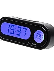 Недорогие -автомобиль мини электронные часы часы авто приборная панель часы светящийся термометр черный цифровой дисплей автомобильные аксессуары