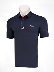 cheap -Men's Polos Shirt Short Sleeve Golf Athleisure Outdoor Autumn / Fall Spring Summer / Cotton / Stretchy / Quick Dry / Breathable