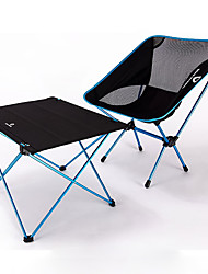 cheap -BEAR SYMBOL Camping Folding Table with Chair Portable Anti-Slip Ultra Light (UL) Foldable Oxford Cloth 7075 Aluminium Mesh 1 Chair 1 Table for Fishing Camping Autumn / Fall Spring Blue