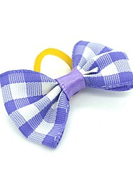 cheap -Dogs Ornaments Hair Accessories For Dog / Cat Bowknot Decoration Color Block Plaid / Check Metalic Polyester Rubber