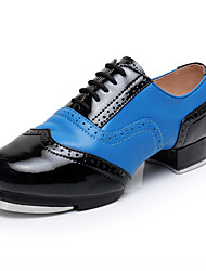 cheap -Men's Tap Shoes Heel Thick Heel Blue Lace-up