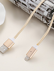 cheap -Magnetic Cable 2.4A Data Charger 1M Nylon Metal Fast Charging Mobile Phone Magnet Cable For Apple iPhone iPad Air