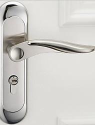 cheap -X61-E1 new stainless steel bedroom door lock European interior lock modern minimalist solid wood door lock silent mechanical door lock