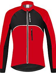cheap -WOSAWE Men's Women's Long Sleeve Cycling Jacket Winter Fleece 100% Polyester Red Bike Sweatshirt Jersey Mountain Bike MTB Road Bike Cycling Thermal / Warm Waterproof Windproof Sports Clothing Apparel