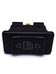 cheap -12V/24V 20A 6Pin Auto Electric Power Window Switch Button for All Autos with Green LED Light Car Button Switch