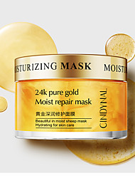 cheap -Mask for the Face Skin Care 24K Pure Gold Moist Repair Face Mask Hydration Moisturizing Shrink Pores Sleeping Mask