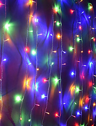 cheap -10m String Lights 100 LEDs Dip Led Warm White / White / Red Party / Decorative / Linkable 220-240 V 1pc / IP44