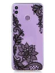 cheap -Case For Huawei Honor 8X / Huawei P Smart (2019) Pattern / Transparent Back Cover Black Flower Soft TPU for Mate20 Lite / Mate10 Lite / Y6 (2018) / P20 Lite / Nova 3i / P Smart / P20 Pro