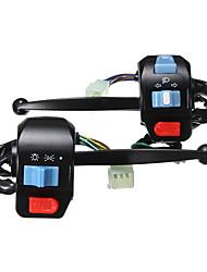 cheap -1pair Drum brake Motor Bike Motorcycle Handlebar Horn Turn Signal Spot Fog Driving Light Switch