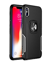 cheap -Case for Apple iPhone XS Texture Stand Case For iPhone X XR XS MAX 8 7 6 PLUS Ring Holder Car Magnetic TPU Armor Cover