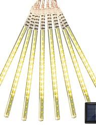Недорогие -2,5м Гирлянды 144 светодиоды 2835 SMD 1 монтажный кронштейн Тёплый белый / RGB / Белый Водонепроницаемый / Творчество / Декоративная Солнечная энергия 1 комплект