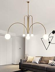cheap -6-Light 130cm LED Pedant Light Modern Nordic Chandelier Globe Geometrical Glass Metal Industrial Novelty Painted Finishes Artistic Chic 110-120V 220-240V