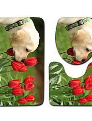 cheap -1 set Classic Bath Mats 100g / m2 Polyester Knit Stretch Novelty / Animal Non-Slip / New Design