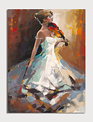 cheap -Oil Painting Hand Painted - People Modern Rolled Canvas