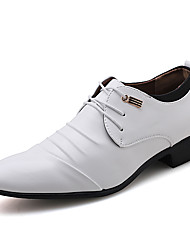 cheap -Men's Formal Shoes PU Spring & Summer / Fall & Winter Casual / British Oxfords Black / White / Party & Evening
